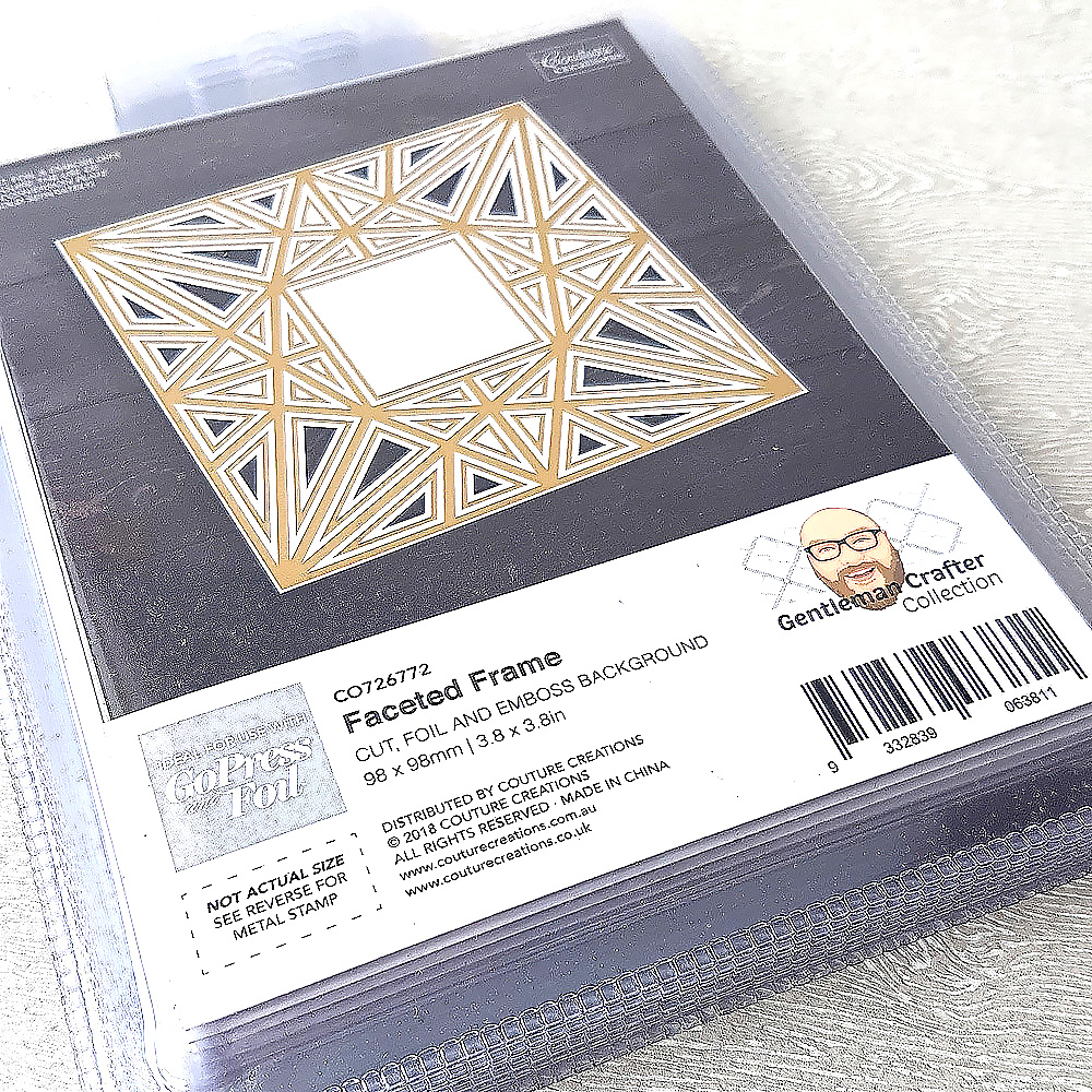 Couture Creations Gentleman Crafter Cut Foil And Emboss Dies