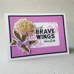 Couture Creations Butterfly Garden With Brave Wings Floral Card by John Bloodworth