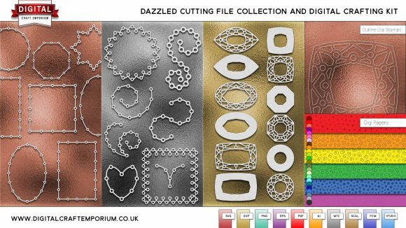Dazzled Cutting File Collection Preview Low Res