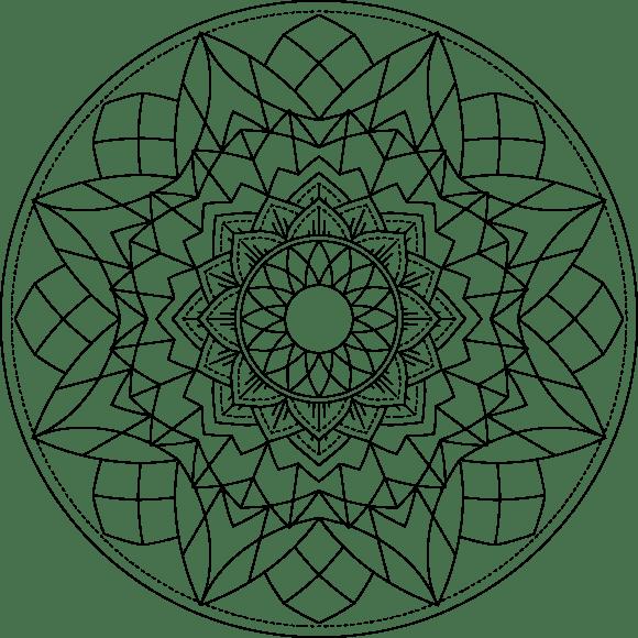 Mandala Monday 2019-4 Hand Drawn Design To Download, Print And Colour