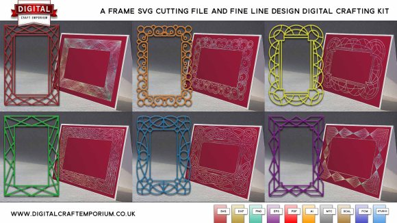 A-Frame SVG Cutting File and Fine Line Design SVG Plotting File Collection Preview Low Res