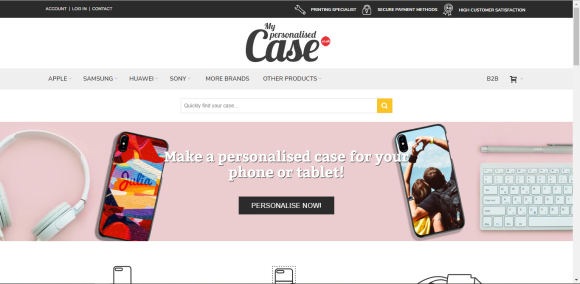 Image of My Personalised Case website.