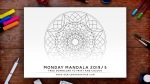 Mandala Monday 2019-4 Hand Drawn Design To Download, Print And Colour