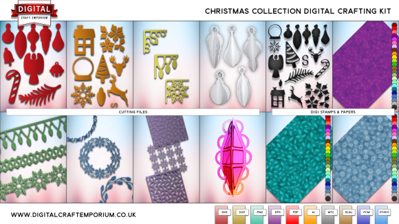 Christmas SVG Cutting File Collection Preview
