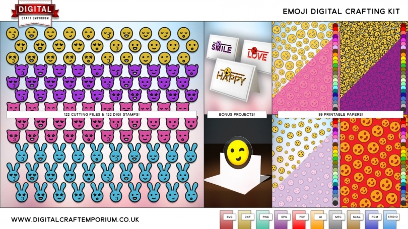 Emoji SVG Cutting File Collection