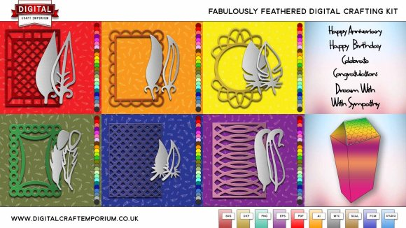 Fabulously Feathered SVG Cutting File Collection Preview