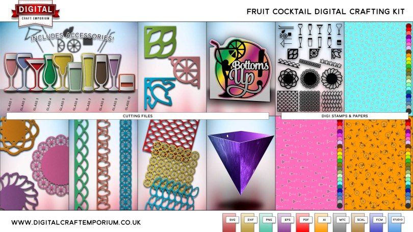 Fruit Cocktail Collection SVG Cutting File Set Preview