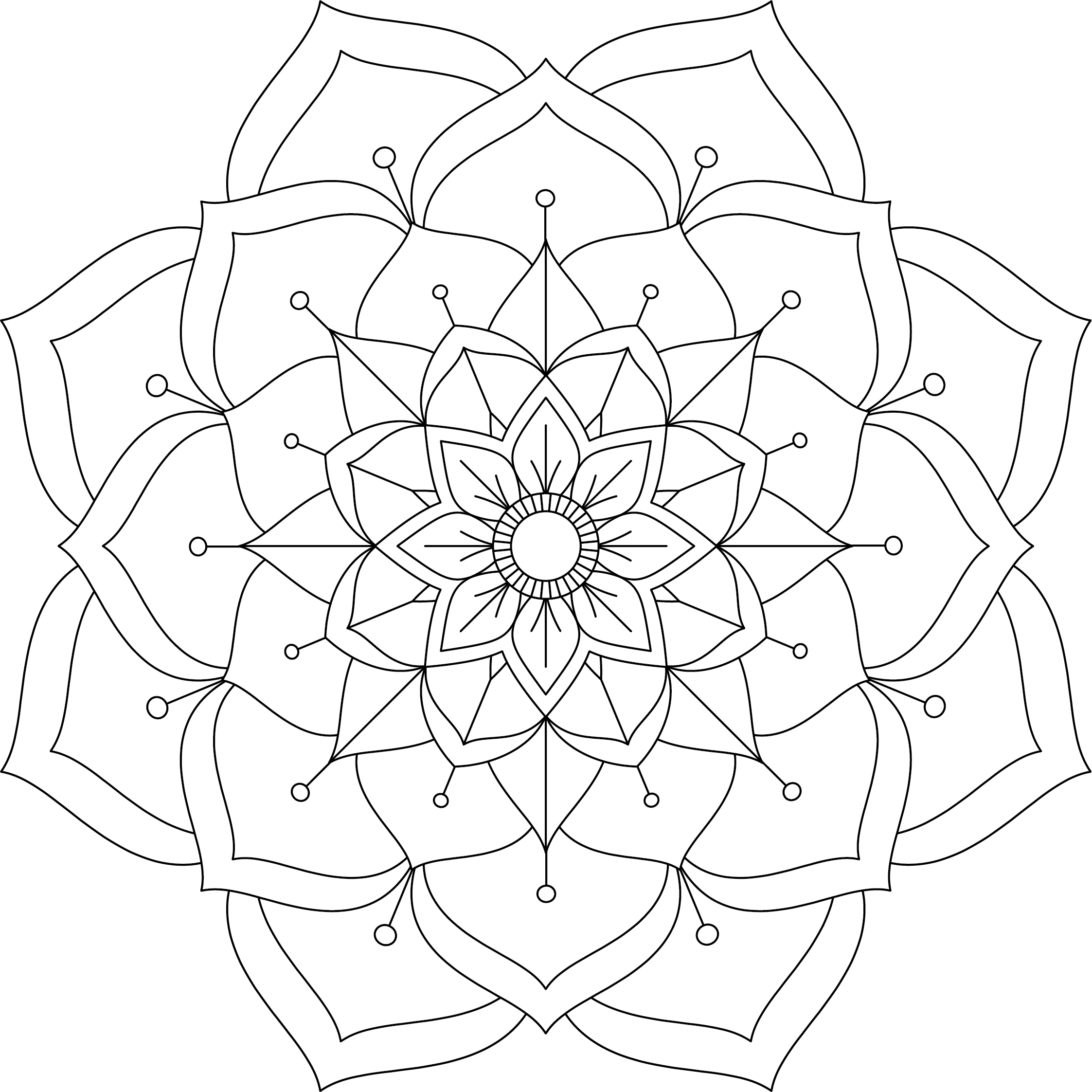 Mandala Monday Free Design To Download And Colour 2019 - 11