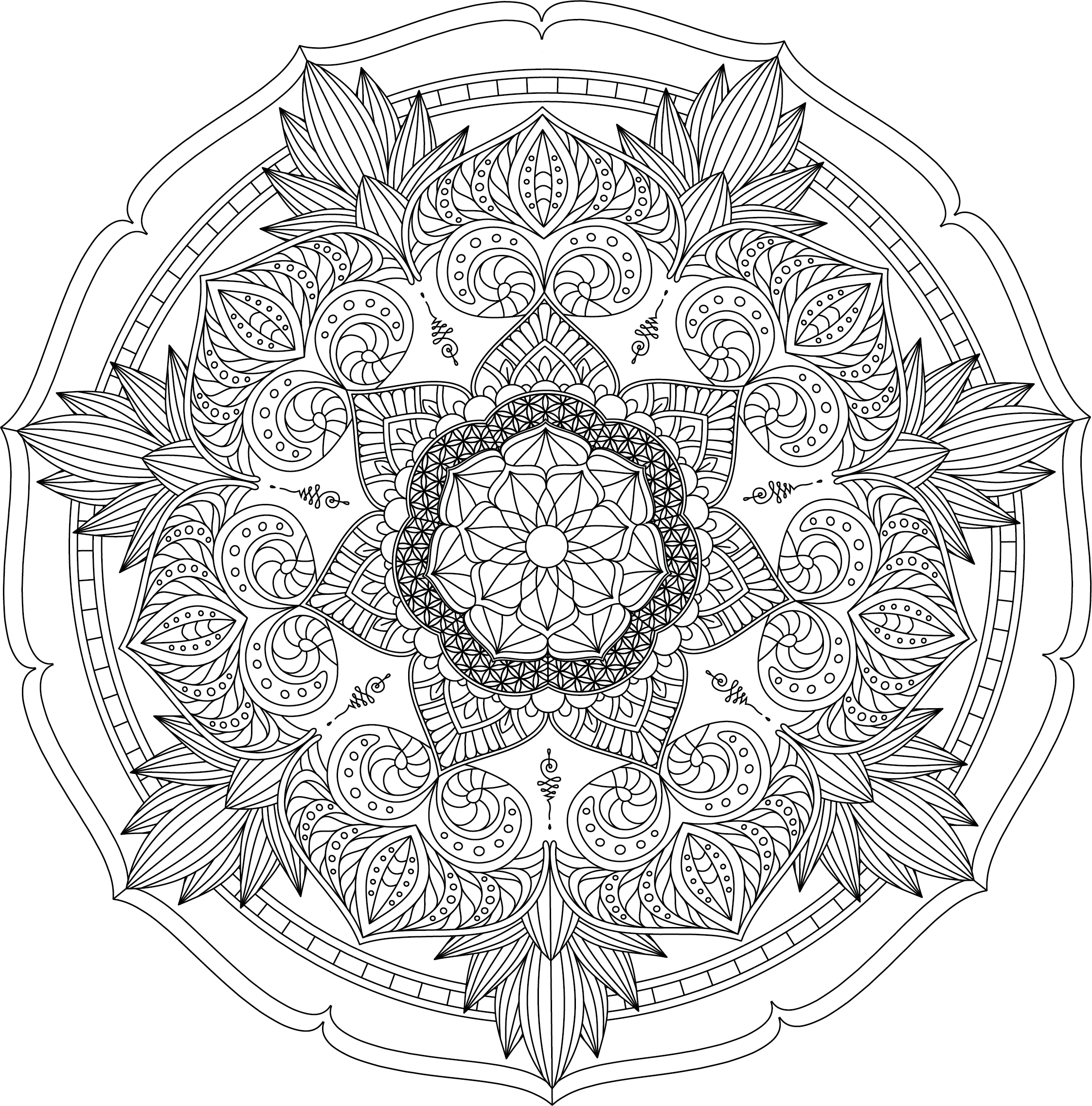 Mandala Monday Free Design To Download And Colour 2019 - 14
