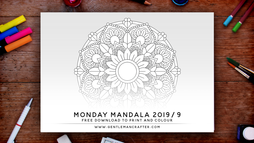 Mandala Monday Free Design To Download And Colour 2019 - 9 Preview