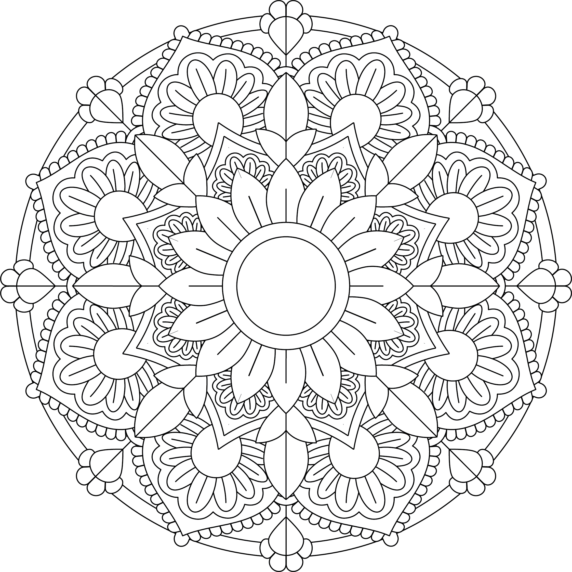 Mandala Monday Free Design To Download And Colour 2019 - 9