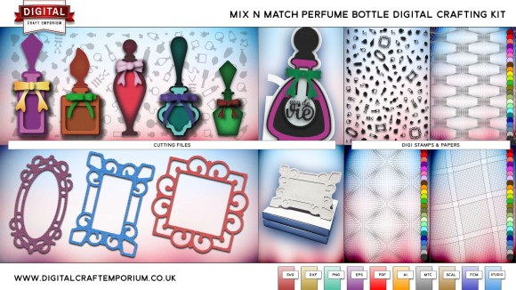 Mix N Match Perfume Bottle SVG Cutting File Collection Preview 2