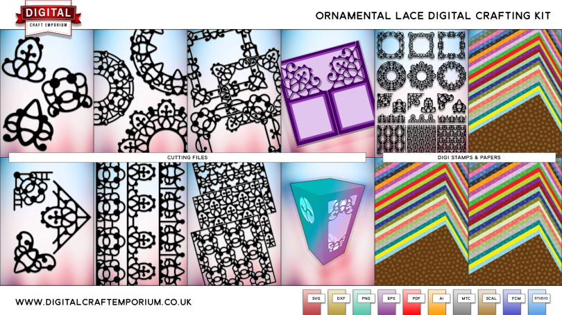 Ornamental Lace Collection SVG Cutting File Set