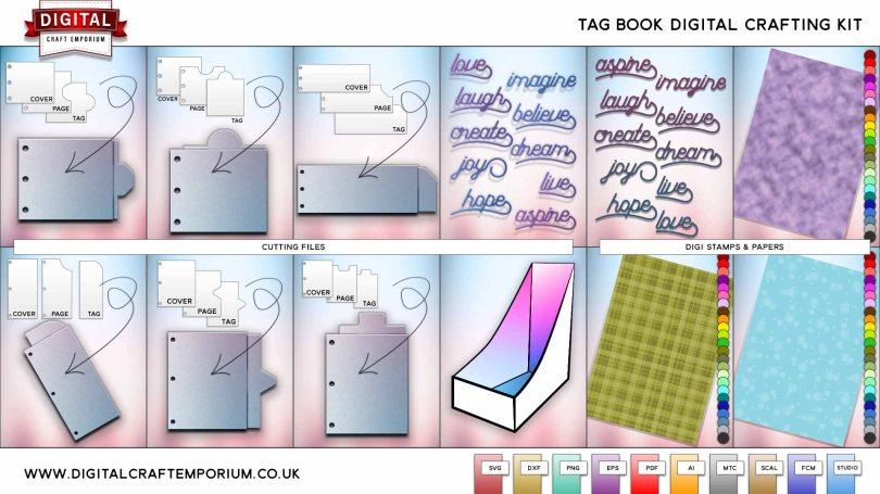 Tag Book SVG Cutting File Collection Preview