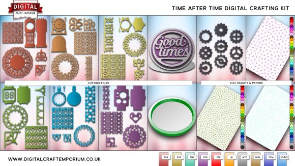 Time After Time SVG Cutting File Collection Preview