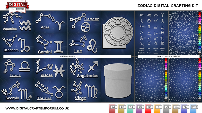 Zodiac SVG Cutting File Collection Preview