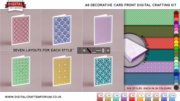A6 CARD FRONT SVG CUTTING FILE COLLECTION