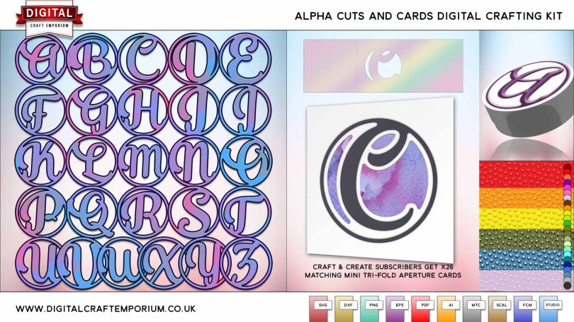 Alpha Cards SVG Cutting File Collection
