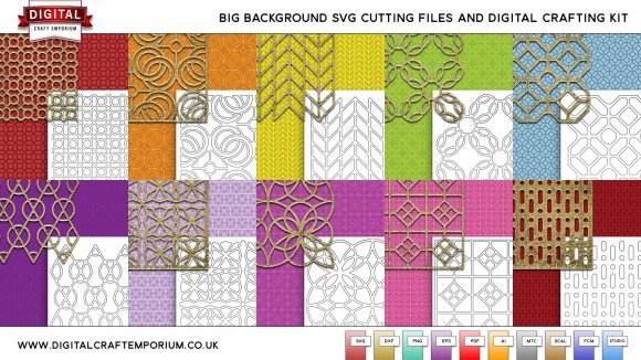 Big Background SVG Cutting File and Digi Craft Kit