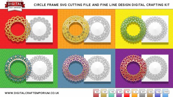 Circular Frame SVG Cutting Files and Fine Line Designs
