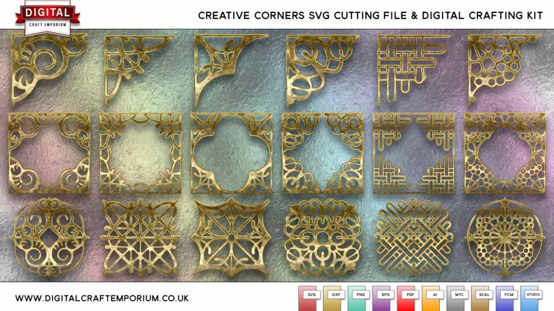 Creative Corner SVG Cutting File Collection Preview