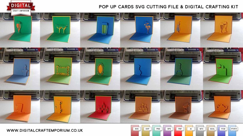 DCE POP UP CARD SVG CUTTING FILE AND DIGI CRAFTING SET