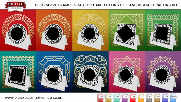 Decorative Frames SVG Cutting File Collection