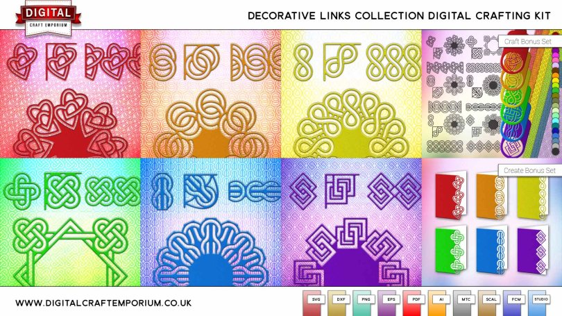 Decorative Links SVG Cutting File Collection