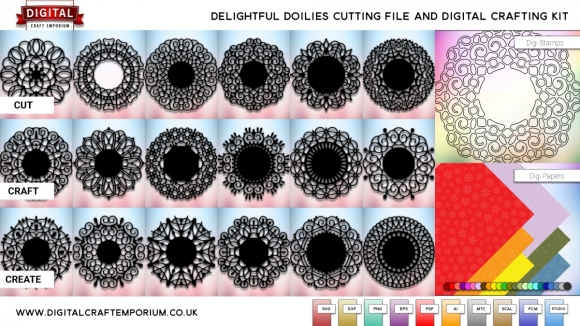 Delightful Doily SVG Cutting File Set