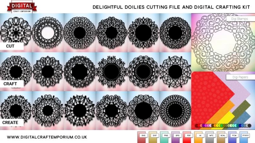 Delightful Doily SVG Cutting File Set