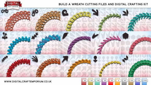 Digital Craft Emporium Build A Wreath SVG Cutting File Collection