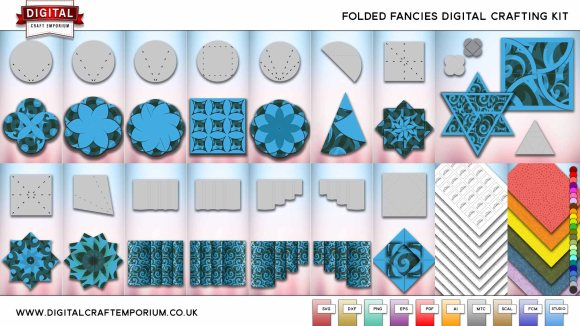 Folded Fancies SVG Cutting File Collection