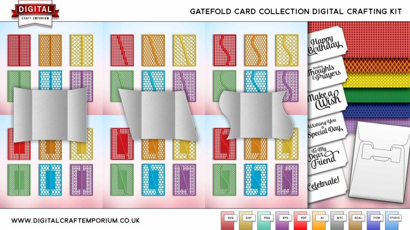 Gatefold Card SVG Cutting File Collection