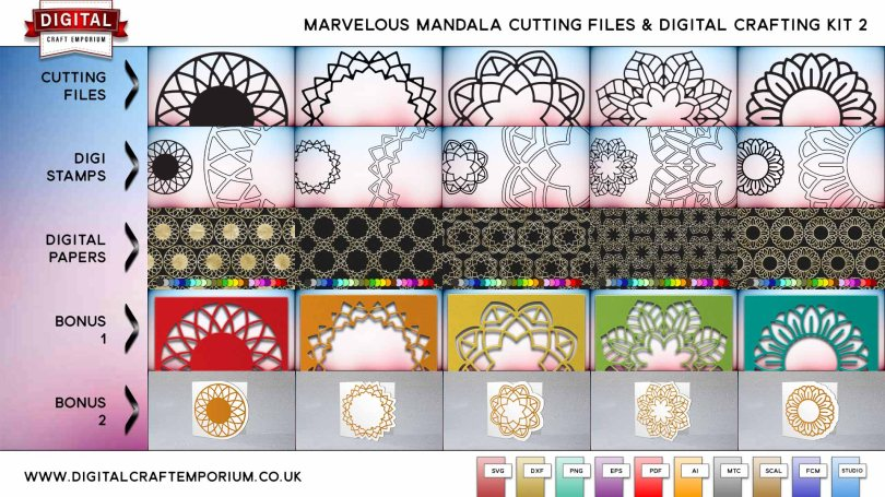 Mandala Cutting File SVG Cutting File Collection and Digital Crafting Bundle Part 2