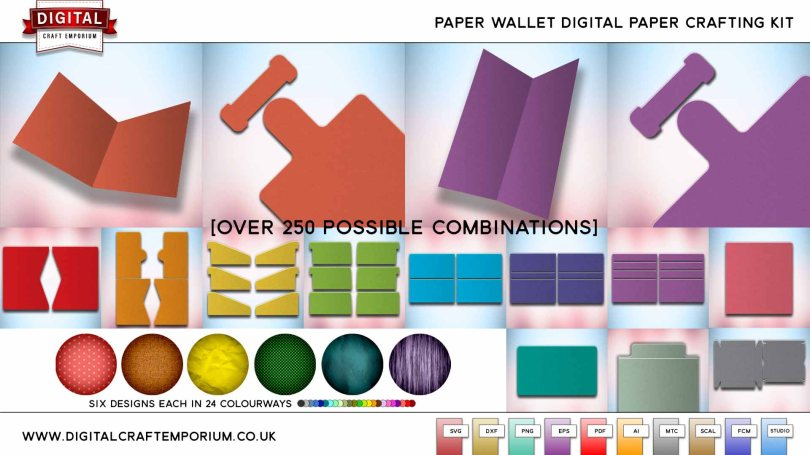 Paper Wallet SVG Cutting File Collection