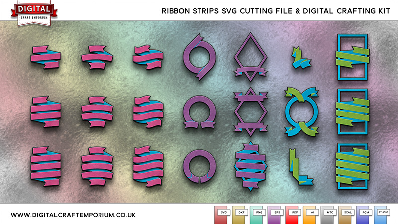 Ribbon Strips SVG Cutting File Collection