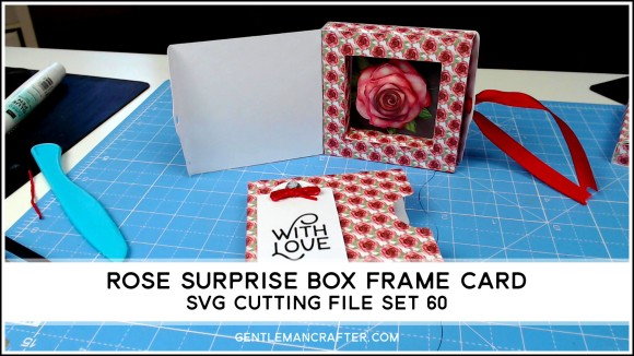 Rose Surprise Box Card SVG Cutting File Set