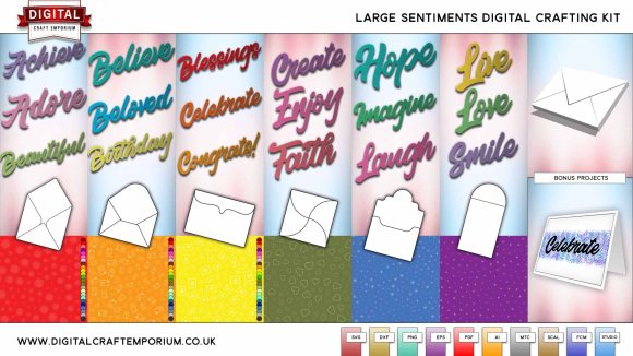Sentiment SVG Cutting File Set Preview