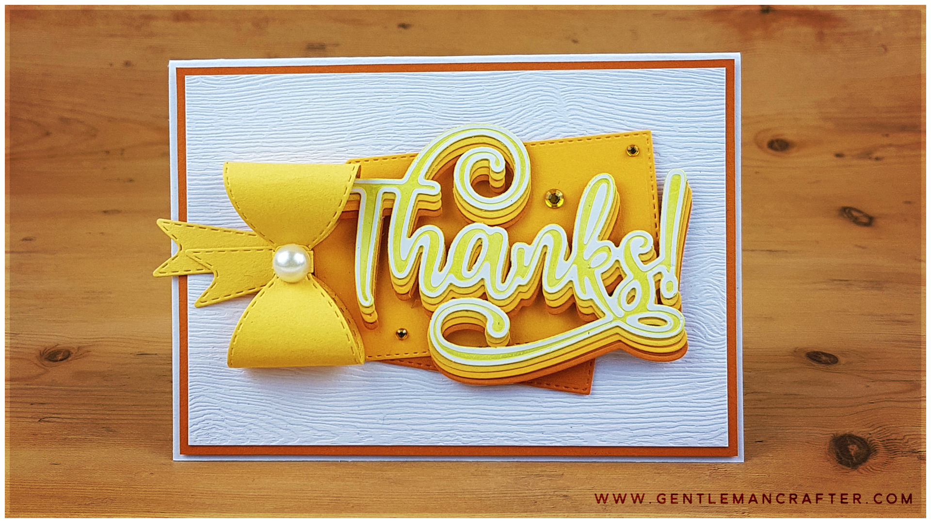 Thanks! Greetings Card with Layered Sentiment Die Cuts YT
