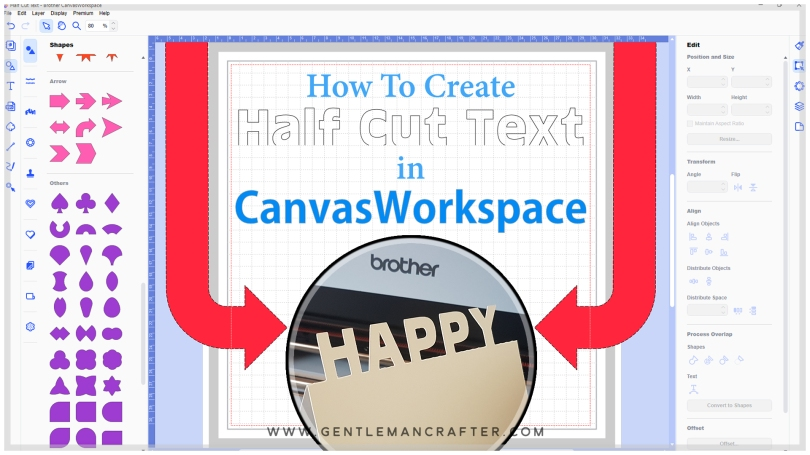 How To Create Half Cut Text Topped Cards In Canvas Workspace