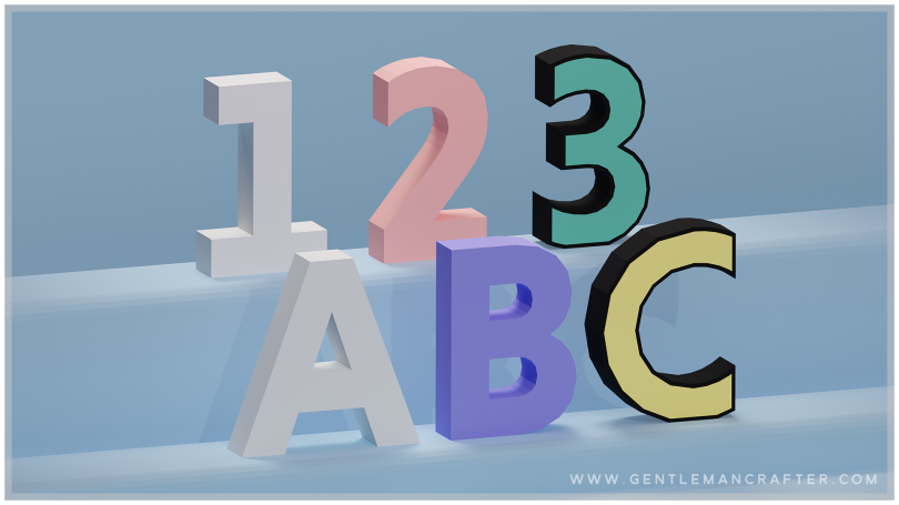 3D ALPHABET SVG CUTTING FILE SET