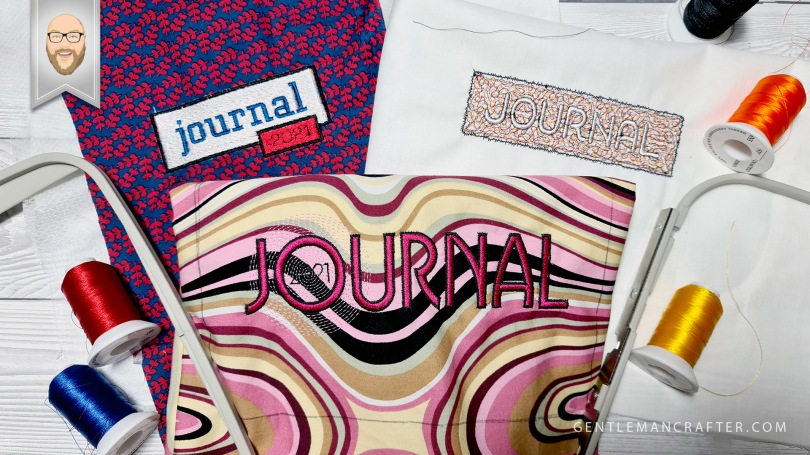 Digitizing an Embroidered Journal Cover Part 1