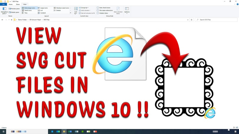 View SVG Cut Files in Windows 10