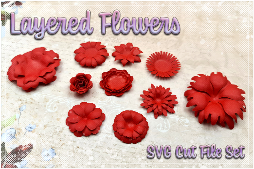 Layered Flowers Preview Image