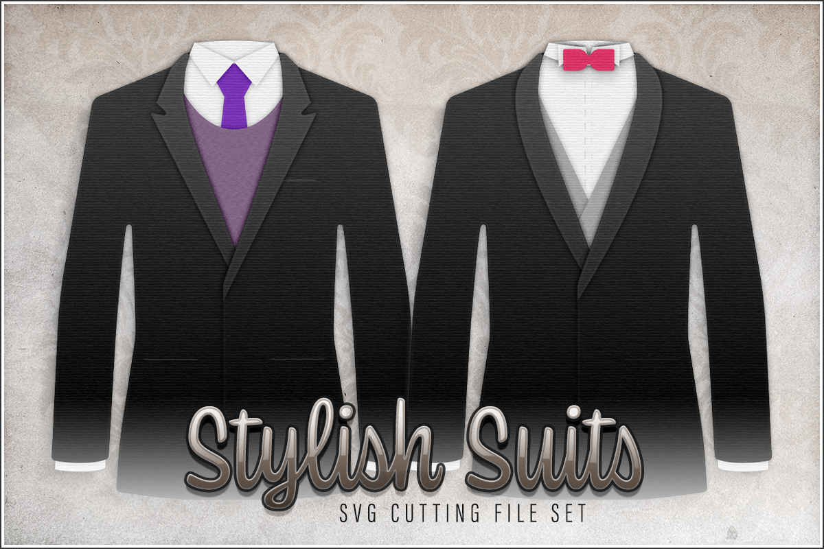 Stylish Suits SVG Cutting File Preview