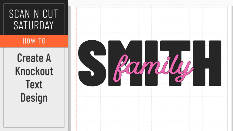 Knockout Text Effect in Canvas Workspace
